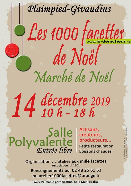 x14 - SAM 14 décembre - PLAIMPIED-GIVAUDINS - Marché de Noël * 0011618