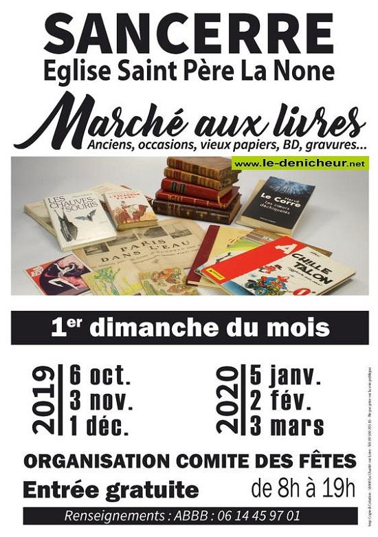 za05 - DIM 05 janvier - SANCERRE - Bourse aux livres, vieux papiers, BD...* 0011651