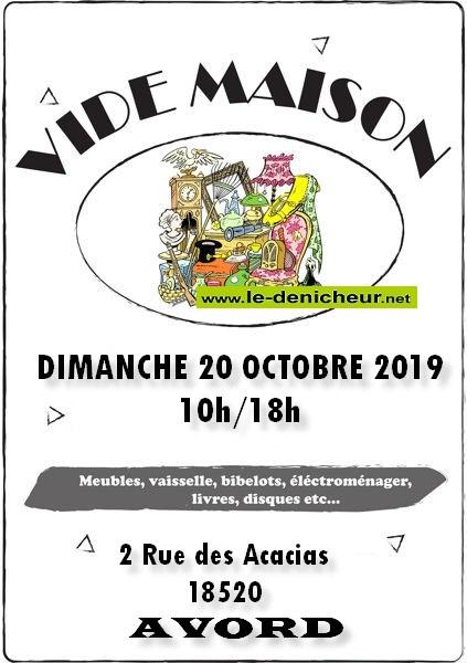 v20 - DIM 20 octobre - AVORD - Vide maison _* 0011663