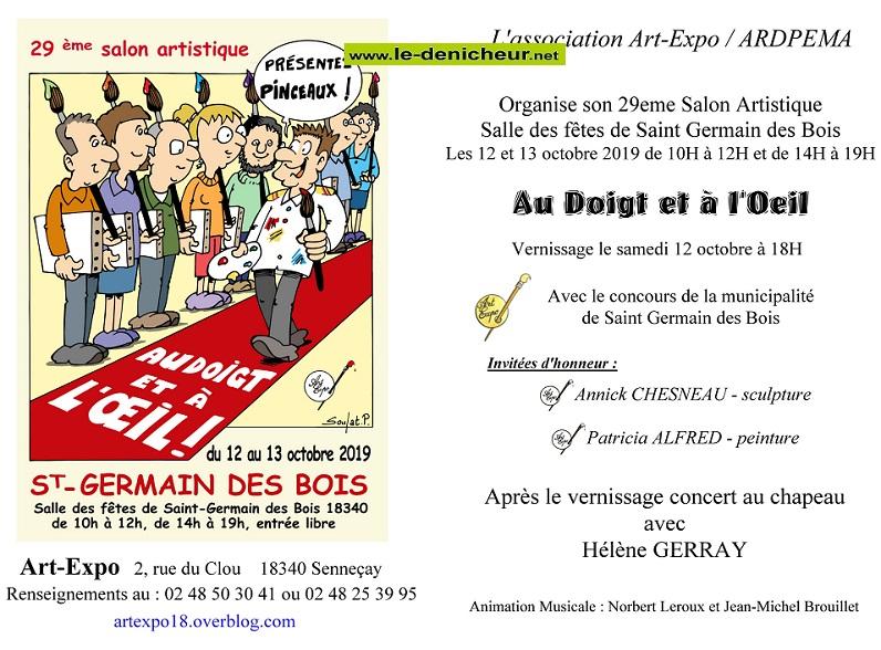 v12 - Les 12 et 13 octobre - ST GERMAIN DES BOIS - Exposition Art-Expo _* 0011669