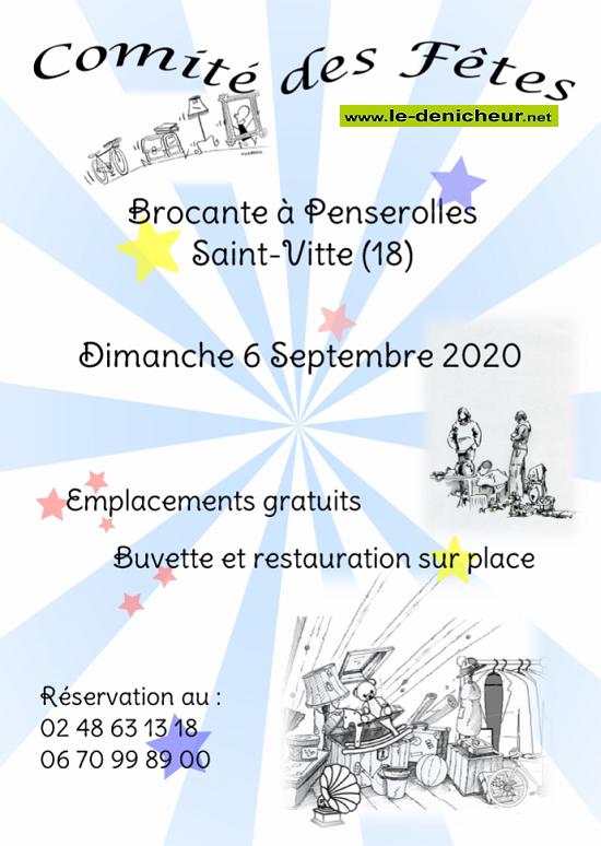 i06 - DIM 06 septembre - ST-VITTE - Brocante du comité des fêtes _* 0011688