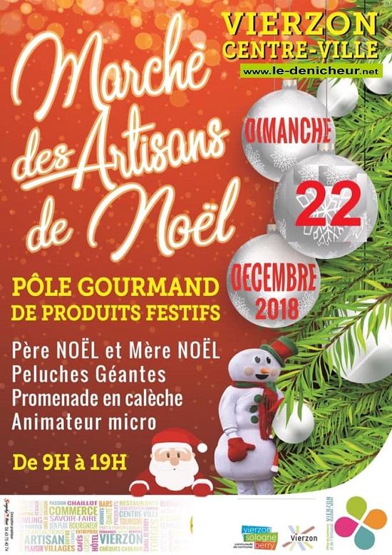 x22 - DIM 22 décembre - VIERZON - Marché des Artisans de Noël * 0011735