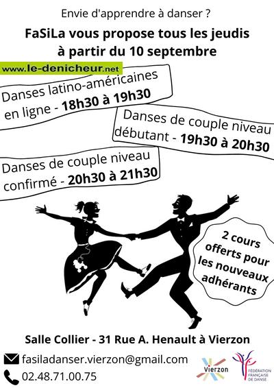 JEU 10 septembre - VIERZON - Reprise des cours de danse _* 0011745