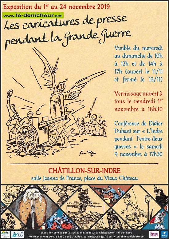 w24 - Jusqu'au 24 novembre - CHATILLON  - Caricatures de presse pendant la Grande Guerre  0011759