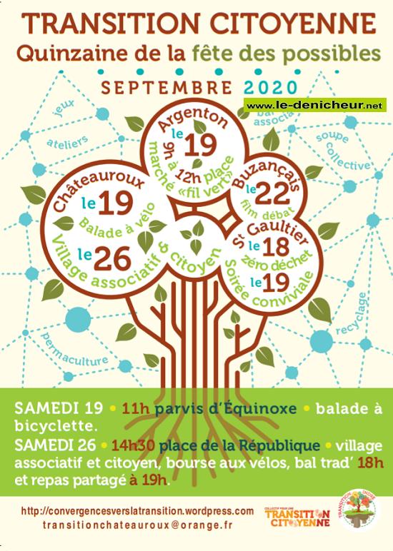 i19 - SAM 19 septembre - CHATEAUROUX - Fête des Possibles _* 0011761