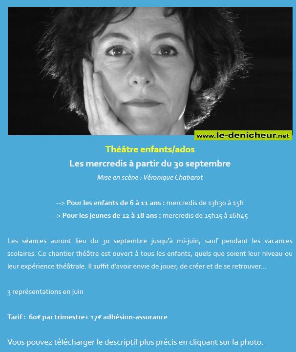 j21 - MER 21 octobre - ST-AMAND-MONTROND - Atelier théâtre enfants/ados  0011764