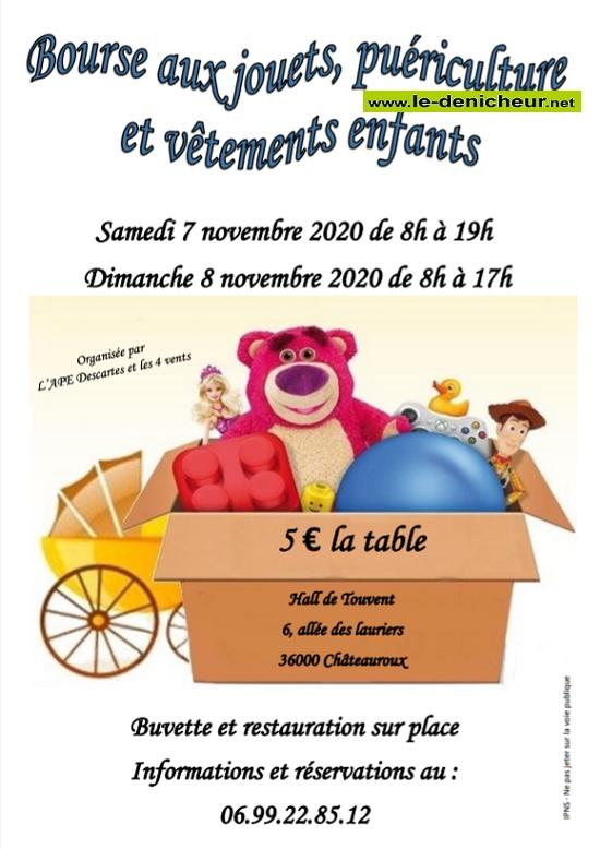 k07 - SAM 07 novembre - CHATEAUROUX - Bourse aux jouets, vêtements et puériculture _* 0011787