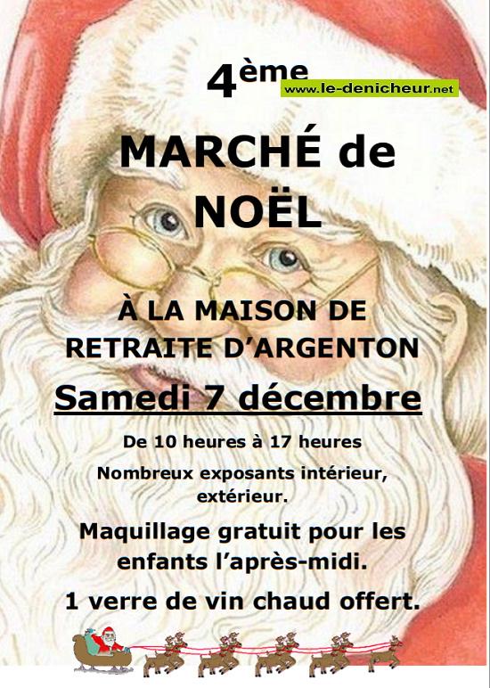 x07 - SAM 07 décembre - ARGENTON /Creuse - Marché de Noël _* 0011793