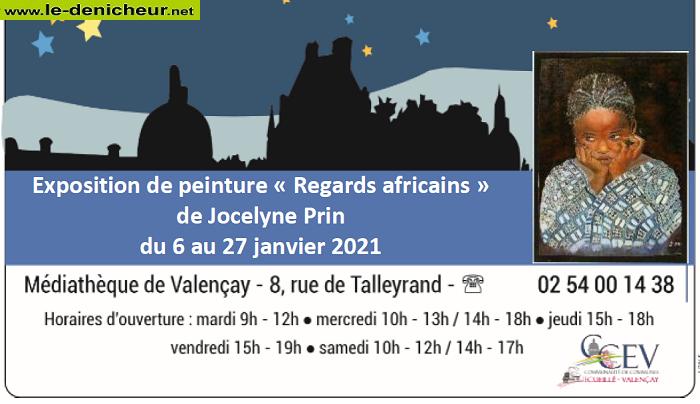 """m27 - Jusqu'au 27 janvier - VALENCAY - Exposition de peinture """"Regards africains"""" 0011816"""