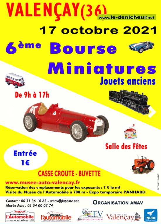 v17 - DIM 17 octobre - VALENCAY - Bourse miniature * 0011817