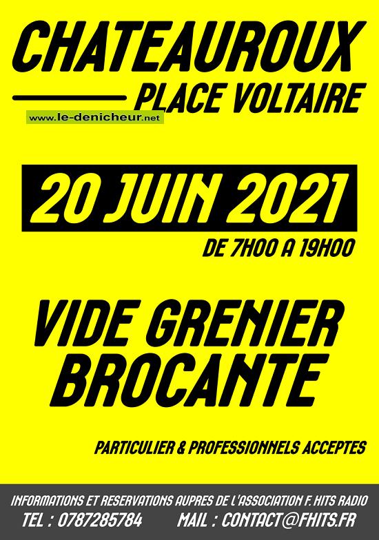 r20 - DIM 20 juin - CHATEAUROUX -  Brocante **Annulée** 0011826