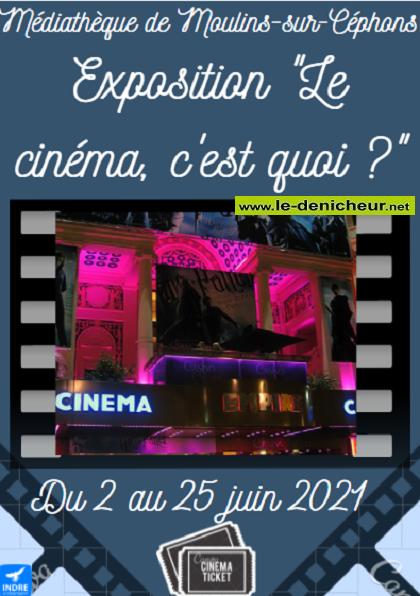"""r25 - Jusqu'au 25 juin - MOILINS /Céphons - Exposition """"Le cinéma, c'est quoi ?"""" 0011833"""
