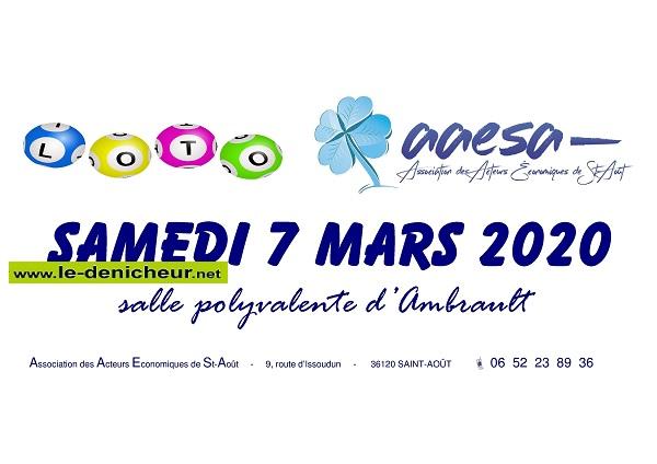 c07 - SAM 07 mars - AMBRAULT - Loto de l'l'AAE de St-Août */ 0011835