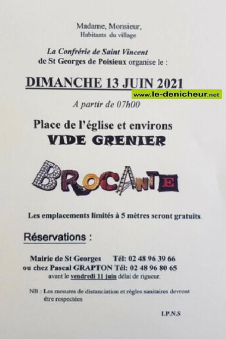 r13 - DIM 13 juin - ST-GEORGES DE POISIEUX - Brocante de la confrérie de St-Vincent* 0011843