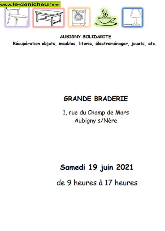 r19 - SAM 19 juin - AUBIGNY /Nère - Braderie d'Aubigny Solidarité 0011844