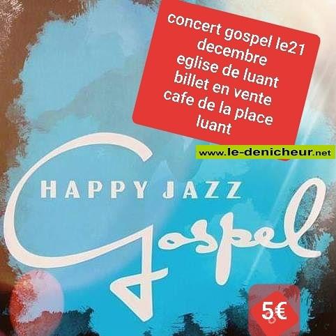 x21 - SAM 21 décembre - LUANT - Happy Jazz Gospel en concert */ 0011848