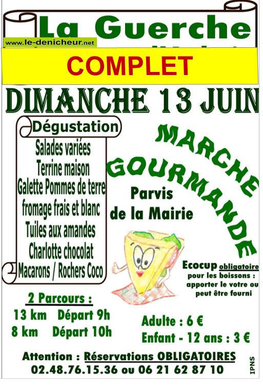 r13 - DIM 13 juin - LA GUERCHE /l'Aubois - Marche gourmande du comité des fêtes */ 0011849