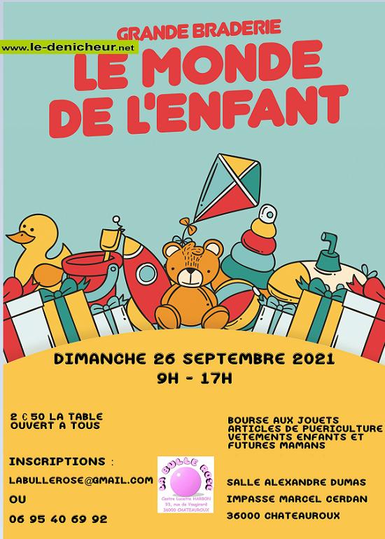 u26 - DIM 26 septembre - CHATEAUROUX - Bourse aux vêtements, jouets, puériculture_* 0011870