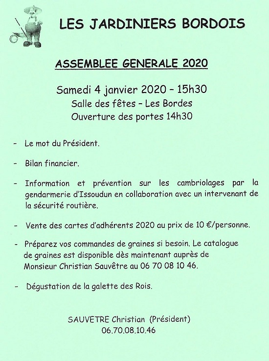 za04 - SAM 04 janvier - LES BORDES - AG + Galette des Jardiniers Bordois */ 0011873