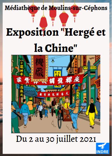 """s30 - Jusqu'au 30 juillet - MOULINS /Céphons - Exposition """"Hergé et la Chine""""  0011880"""