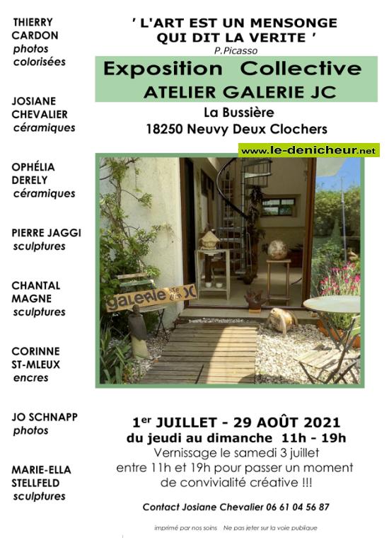 t29 - Jusqu'au 29 août - NEUVY DEUX CLOCHERS - Exposition collective _* 0011882