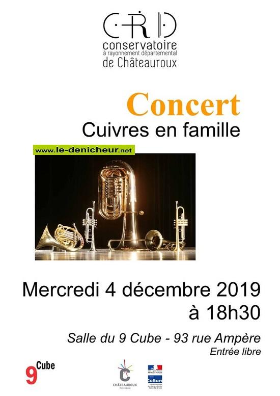 """x04 - MER 04 décembre - CHATEAUROUX - Concert """"Cuivre en famille"""" _* 0011904"""