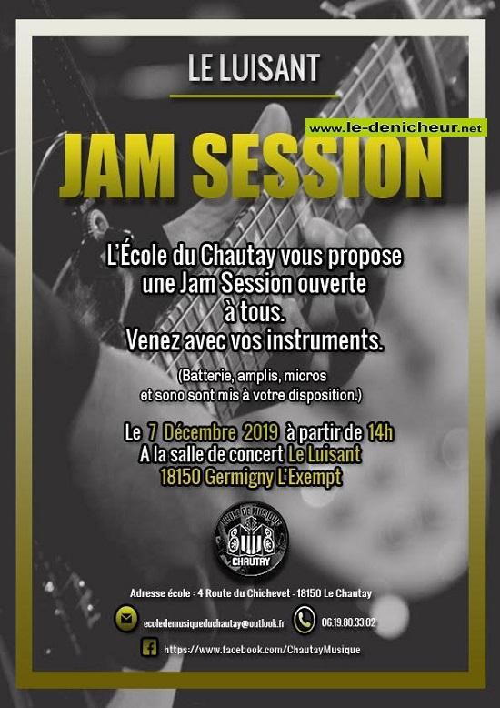 x07 - SAM 07 décembre - GERMIGNY L'EXEMPT - Jam Session */ 0011907