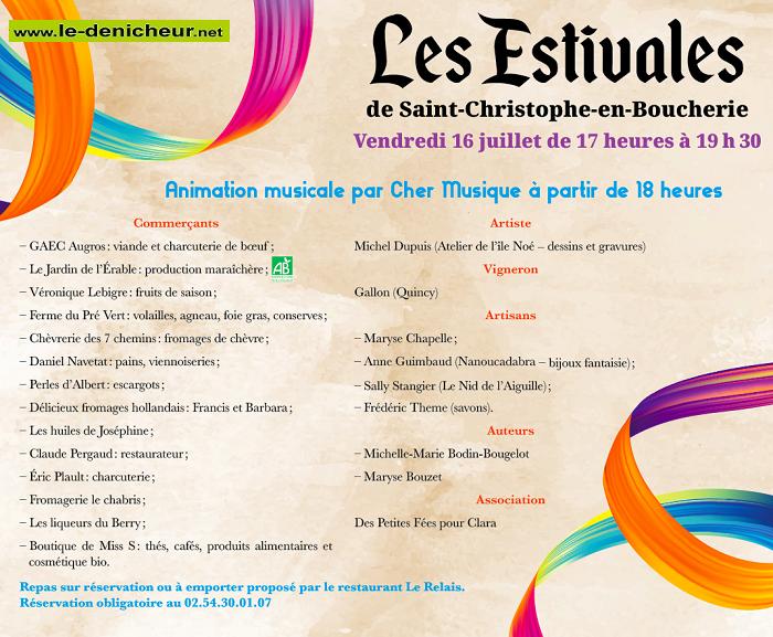 t13 - VEN 13 août - ST-CHRISTOPHE en Boucherie - Marché du Terroir */ 0011907