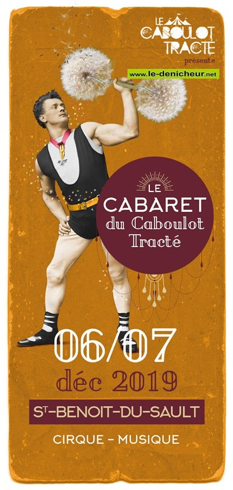 x07 - SAM 07 décembre - ST-BENOIT DU SAULT - Le Cabaret du Caboulot Tracté_* 0011910