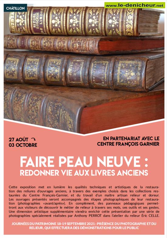 """v03 - Du 27/08 au 3 octobre - CHATILLON /indre - Exposition """"Faire peau neuve"""" 0011947"""