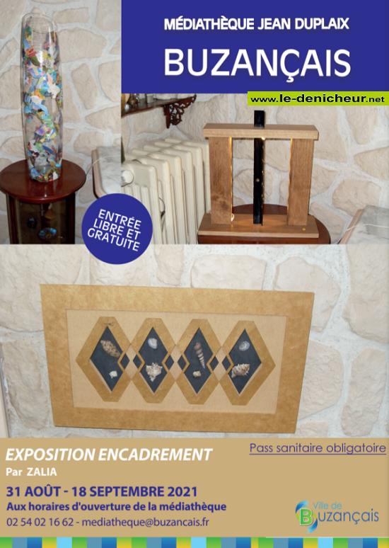 u18 - Jusqu'au 18 septembre - BUZANCAIS - Exposition Encadrement _* 0011967