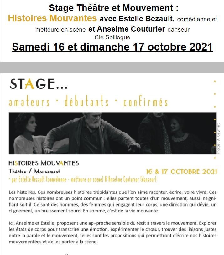 v16 - Les 16 et 17 octobre - GERMIGNY L'EXEMPT - Stage Théâtre et Mouvement */ 0011969