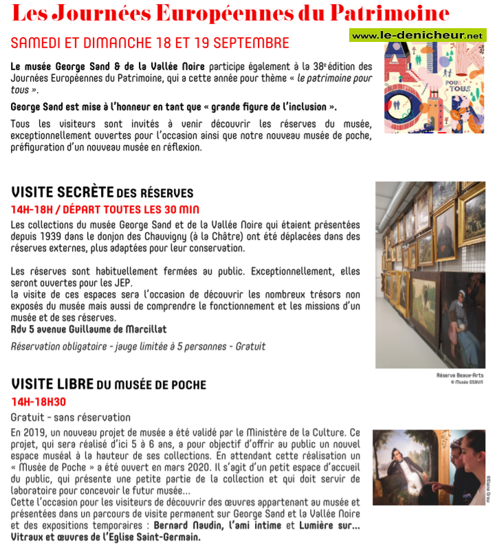 u19 - DIM 19 septembre - LA CHATRE - Journées Européennes du Patrimoine  0011982