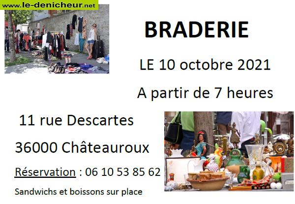 "v10 - DIM 10 octobre - CHATEAUROUX -Braderie du Panier Garni"" 0011983"