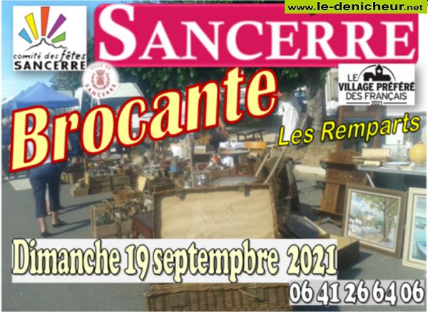 u19 - DIM 19 septembre - SANCERRE - Brocante du comité des fêtes * 0011986