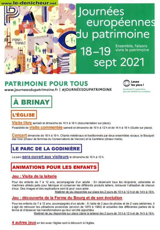 u19 - DIM 19 septembre - BRINAY - Journées Européennes du Patrimoine _* 0011989