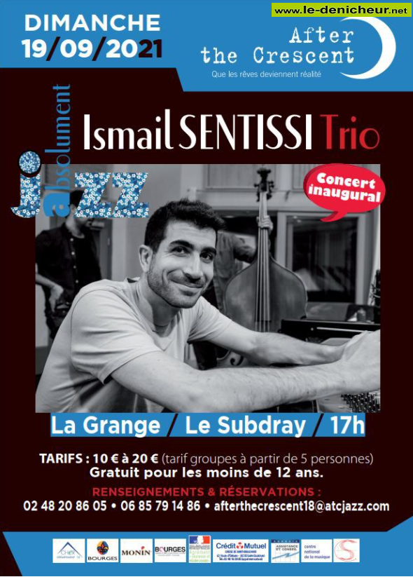 u19 - DIM 19 septembre - LE SUBDRAY - Ismail Sentissi Trio (jazz) 0011994