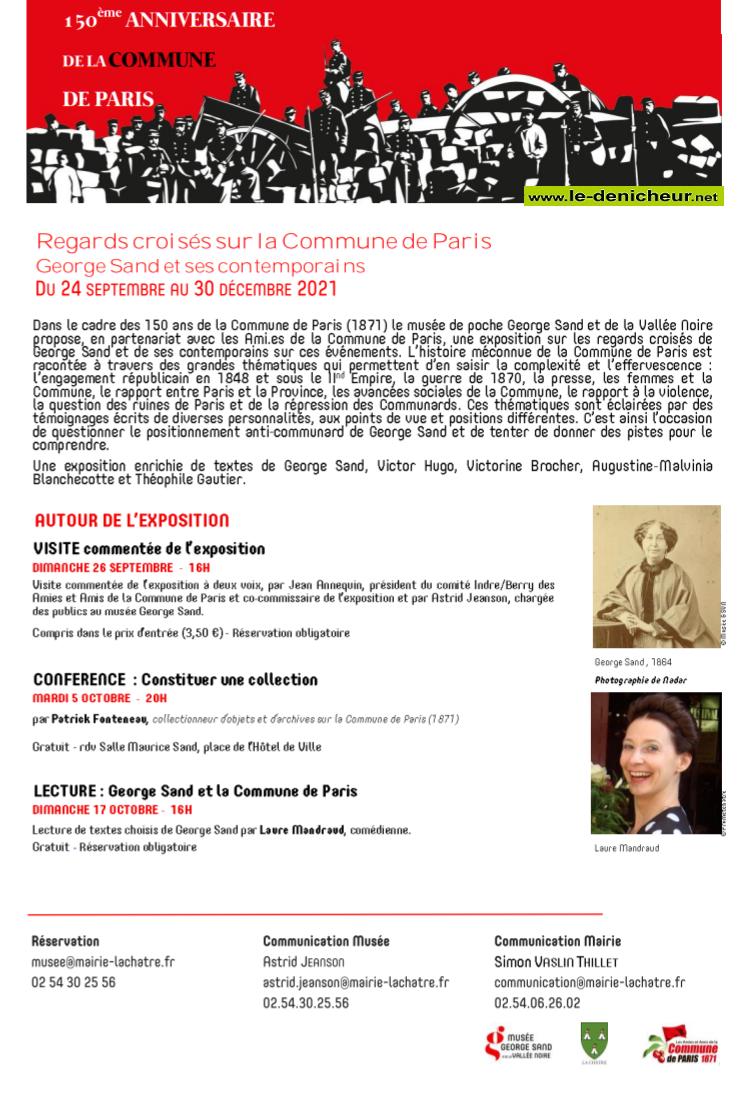 x30- Jusqu'au 30 décembre - LA CHATRE - Regards croisés sur la Commune de Paris 0012005