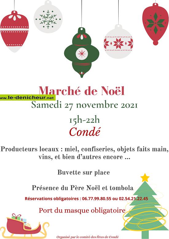 w27 - SAM 27 novembre - CONDE - Marché de Noël _* 0012022