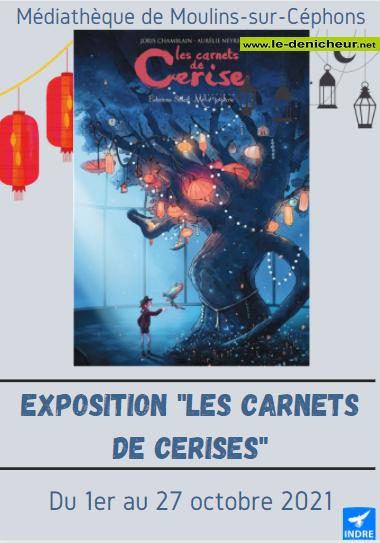 """v27 - Jusqu'au 27 octobre - MOULINS /Céphons - Exposition: """"Les carnets de Cerise"""" 0012031"""