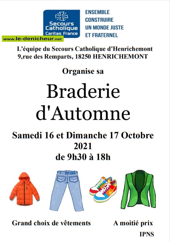v17 - DIM 17 octobre - HENRICHEMONT - Braderie du Secours Catholique _* 0012035