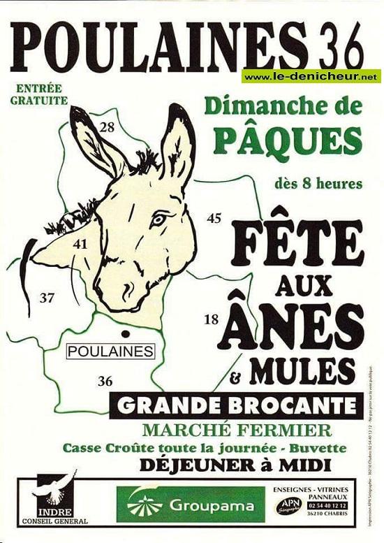 d12 - DIM 12 avril - POULAINES - Fêtes aux ânes & mules .*/ 0012040