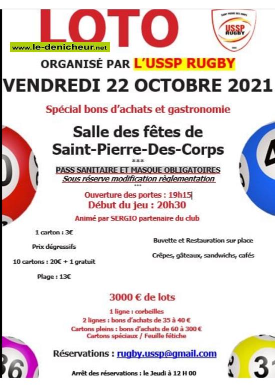 v22 - VEN 22 octobre - ST-PIERRE DES CORPS - Loto du rugby  0012046