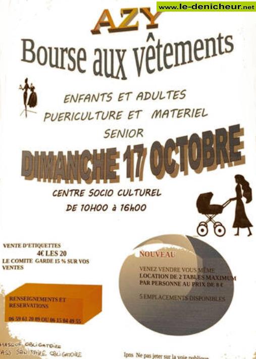v17 - DIM 17 octobre - AZY - Bourse aux vêtements * 0012055