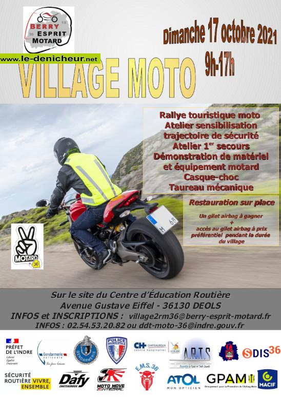 v17 - DIM 17 octobre - DEOLS - Village sécurité routière moto 2021 0012058