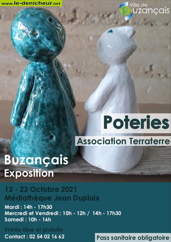 v23 - Jusqu'au 23 octobre - BUZANCAIS - Exposition poterie _* 0012066