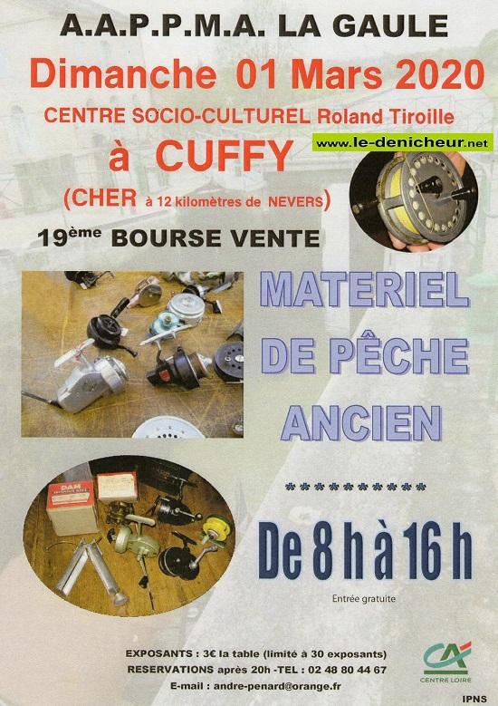 c01 - DIM 01 mars - CUFFY - 19ème Bourse-Vente matériel de pêche ancien */ 0012088