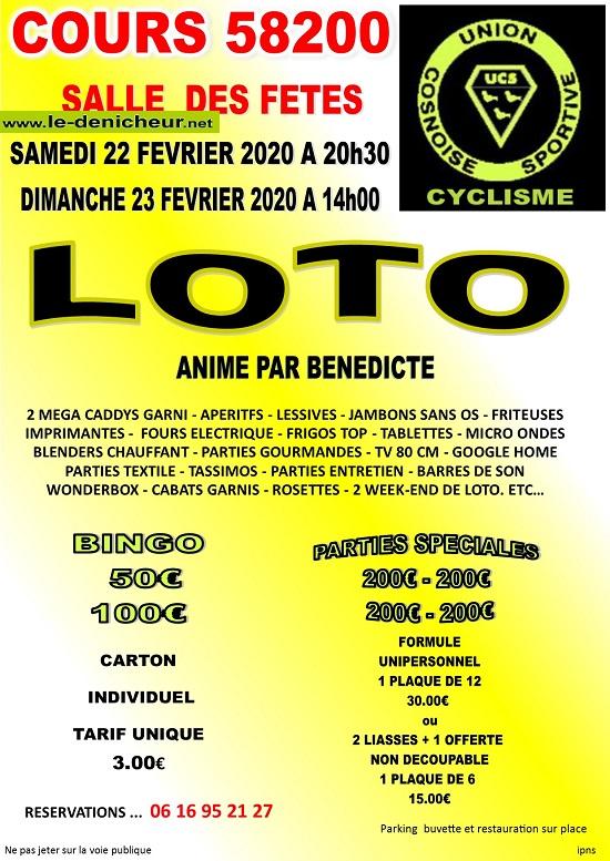 b22 - SAM 22 février - COURS - Loto de l'UCS Cyclisme */ 0012128