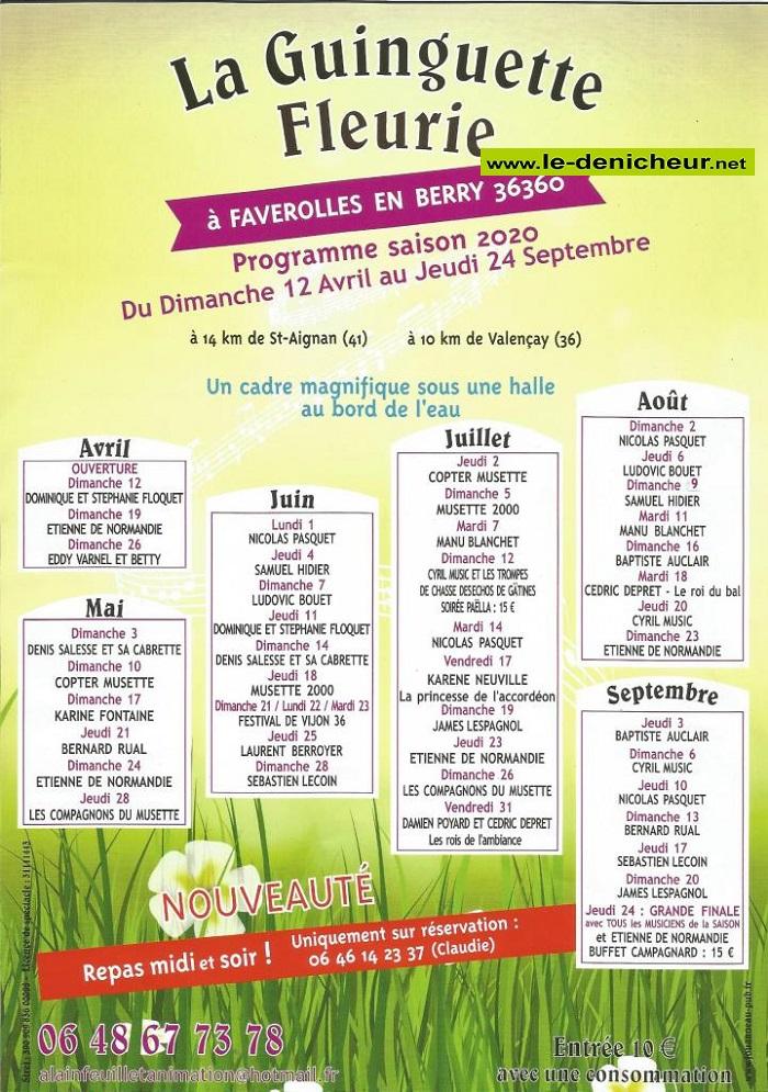 e31 - DIM 31 mai - FAVEROLLES - Thé dansant avec Les Compagnons du Musette 0012142
