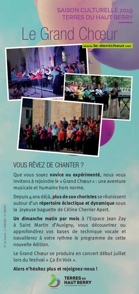 St-MARTIN D'AUXIGNY - Envie de chanter ? Rejoignez le Grand Choeur. 001218